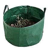 JFBUCF Bolsas de basura de jardín de alta calidad, bolsas de basura de jardín con asas, bolsa de basura reutilizable para hojas, esquejes de hierba y malas hierbas