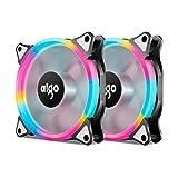 Aigo, Halo Ring LED 120mm 12cm PC CPU Computer Case Cooling Neon Quite...