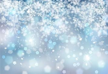 ALUONI 5x3ft Winter,Gentle White Snowflakes On Background Soft Feminine Romantic Backdrop for Selfie Birthday Party Pictures Photo Dance Decor Wedding Studio Background AM034197