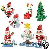 Bausteine für Kinder 4er-Set 3D-Puzzle-Bausteine Kreatives Spielzeug Und Lernspielzeug DIY-Geschenke Für Weihnachten Und Geburtstag (Weihnachtsmann Weihnachtsstrumpf Schneemann Weihnachtsbaum)