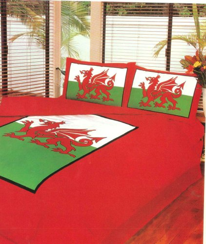 Intimates Double Bed Welsh Dragon Duvet/Quilt Cover Quality Bedding Set
