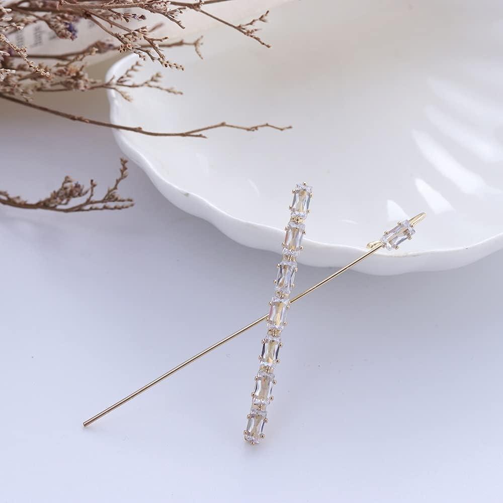CUTIHO Fashion Crystal Zirconia Stud Earrings for Woman Geometric Cross Chain Hook Earrings Pearl Earrings Climber Earrings - Type 7