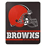 Northwest NFL Cleveland Browns Splitwide Printed Fleece Throw, Team Color, 50' x 60', by The Company, Team Colors (1NFL031040005RET)