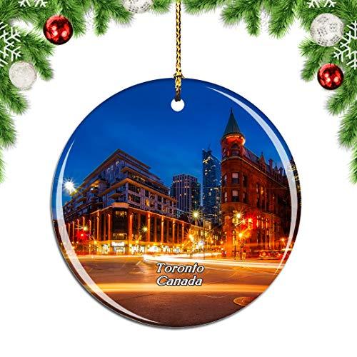 albero di natale ontario Weekino Canada Toronto Ontario Decorazione Natalizia Albero di Natale Ornamento Pendente sospeso Città Viaggi Souvenir Collection Porcellana da 2