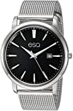 ESQ Men's Stainless Steel Mesh Bracelet Watch w/ Black Dial FE/0040