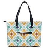 Bolsa ligera con estampado de bandera egipcia, para ir de compras, gimnasio, senderismo, viajes, yoga, bolsa de hombro con bolsillos exteriores con cremallera