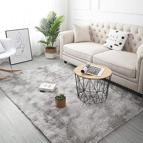 Grijze tapijt tie verven pluche zachte tapijten voor de woonkamer slaapkamer antislip vloermatten slaapkamer wateropname tapijt tapijten, lichtgrijs, 40x60cm