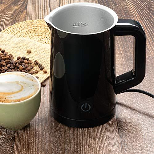 Home Treats Elektrischer Milchaufschäumer, antihaftbeschichtet, für heiße und kalte Getränke, Kaffee, heiße Schokolade
