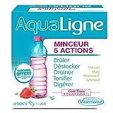 Vitarmonyl - Aqualigne complément alimentaire minceur 5 actions – thé vert maté vitamine C artichaut pour bruler destocker drainer tonifier digérer – 20 sachets