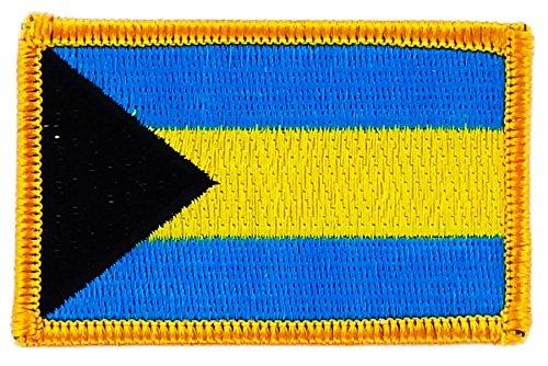 Patch Aufnäher bestickt Flagge Bahamas zum Aufbügeln Abzeichen Wappen Backpack