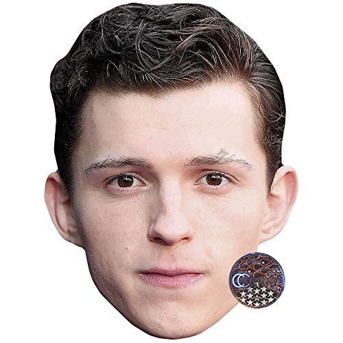 Celebrity Cutouts Tom Holland (Brown Hair) Maske aus Karton