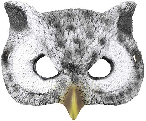 Boland 56735 Halbmaske Eule, Grau, 24 x 17 cm