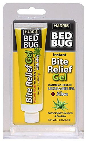 Harris Bed Bug Bite Instant Relief Gel, 1oz Tube with Aloe