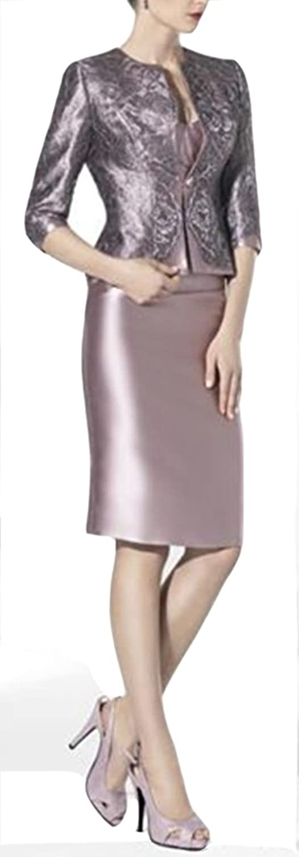 Emmani Women's Knee Length Mother of Bride Dresses With Jacket