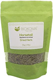 100% Pure and Organic Biokoma Horsetail Dried Leaves 50g (1.76oz) in Resealable Moisture Proof Pouch