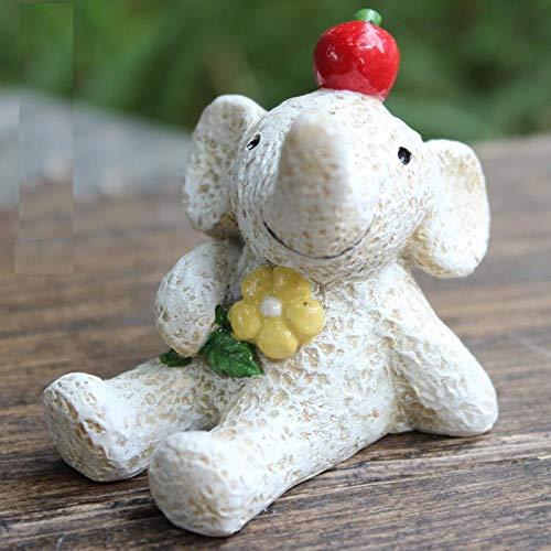 hacpigbb Estatua De Cachorro con Bufanda Verde Mini Lindas Decoraciones para El Hogar Regalos Creativos Muebles para Habitaciones De Niños - como