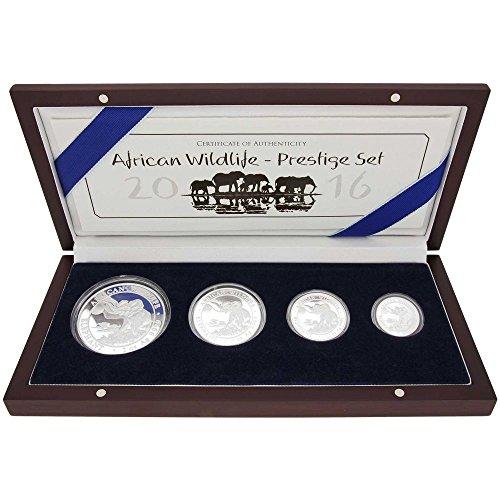 Bayerisches Hauptmünzamt 3,75 oz Somalia Elefant 2016 Limited Edition Prestige Set 4 Münzen PP Silber
