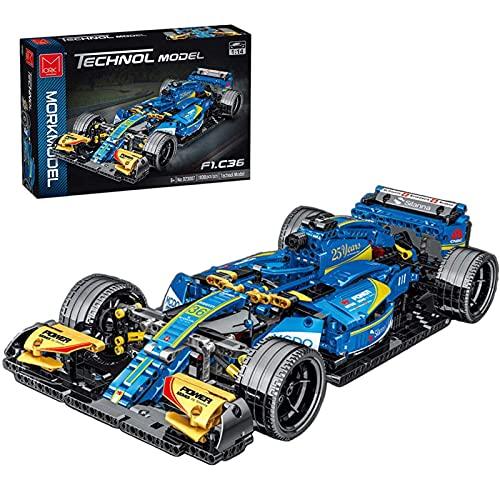 Technic Macchina da Corsa Set di Costruzioni, 1:14 Modello di Auto da Collezione, 1100 Parti Giocattolo da Costruzione Compatibile con Lego Technic blue,50 * 22 * 9