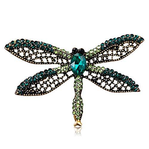 RelaxLife Broche Moda Hecha A Mano Colorida Mariposa Pareja Pájaros Libélula Cristal Rhinestone Broche Pin para Mujer Dama Bisutería