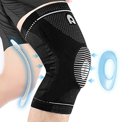Professional Knee Brace for Men and Women, Non Slip Breathable Knee Compression sleeve with Gel Pads...