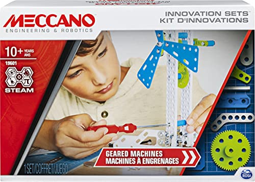 Meccano, Inventor Set Creazioni con Ingranaggi, kit di costruzione S.T.E.A.M. dai 10 anni