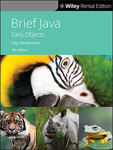 Brief Java: Early Objects, 9th Edition Front Cover
