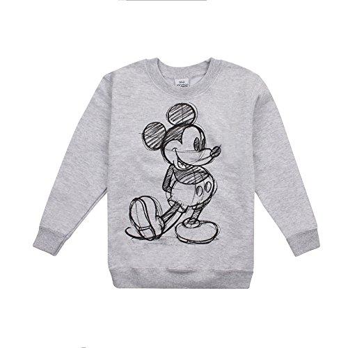 Disney Mickey Sketch Sudadera, Gris (Sport Grey SPO), 9-10 Años para Niñas