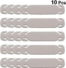 EXCEART 10 Piezas Máscara de Cable de Oreja Hebilla Ajustable Hebilla de Extensión Cuerda de Oreja Hebilla de Desgaste Hebilla de Plástico Gancho para Todo Tipo de Máscara (Gris)