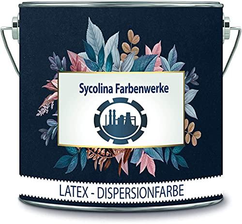 Sycolina Farbenwerke Latexfarbe Bunt Dispersionsfarbe strapazierfähige Wandfarbe in vielen hochwertigen Farben (1 l, Schwarz)