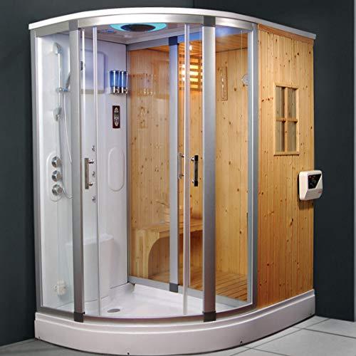 Cabina hidromasaje 170 x 130 cm cabina ducha multifunción con baño ...