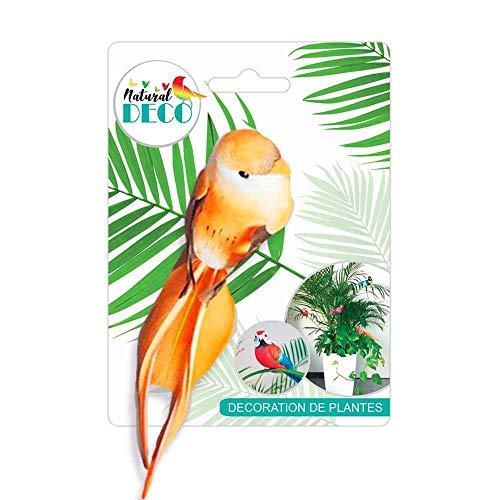 STC Déco Plantes – Petit Oiseau Orange CD3836