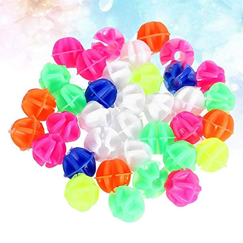 Luckycivia 180 pcs Assorted Colors Bike Bicycle Wheel Spokes Bead Plastic Clip Spoke Bead Derections