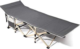 GWX Cama de Acampada, Cama Liviana de Campamento Plegable Individual (Gris) Tienda de campaña para Pescar al Aire Libre Cama Plegable, para la Familia, Senderismo 190 * 65 * 35 (cm)