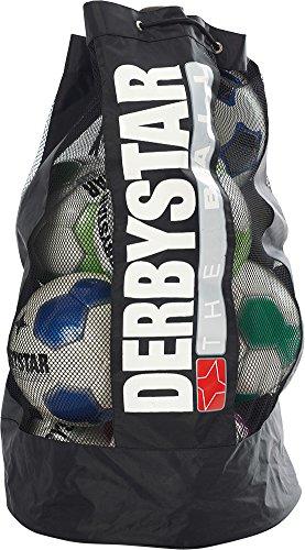 Derbystar - Saco de balón para Hombre, Todo el año, Color Negro , tamaño 43 x 20 x 75 cm, 10 Liter