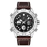 Caluxe top brand di lusso LED digitale orologio uomo Dual Time display cronometro sveglia calendario impermeabile moda militare orologi da polso