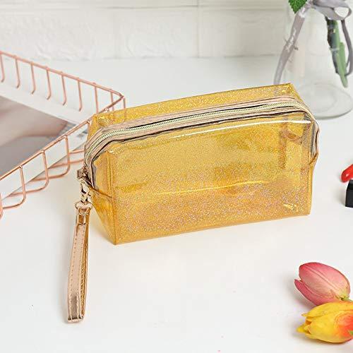 Fashion PVC Design Women Cosmetic Bag Laser Makeup Case Transparent Beauty Organizer Pouch Female Jelly Bag Clear Pouch 101-1