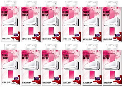 Areon Clima Deodorante Ambiente Bella Casa Ambiente Filtri Condizionatori Profumati Rosso ( Lovely Home Set di 12 )