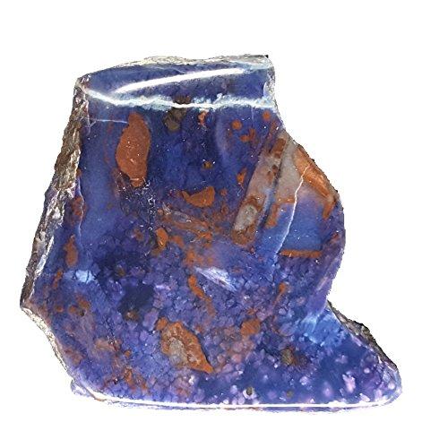 KRIO® - große leuchtend blau/violette Sugilith Richterit Scheibe
