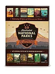 Image: 59 Illustrated National Parks - Hardcover: 100th Anniversary of the National Park Service, by Researcher-Lecturer Joel Anderson (Author), Anderson Design Group (Contributor), Nathan Anderson (Contributor). Publisher: Anderson Design Group, Inc. (October 1, 2015)
