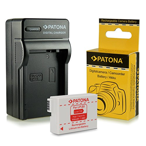 Caricabatteria + Batteria LP-E8 per Canon EOS 550D | 600D | 650D | 700D | Rebel T2i | Rebel T3i | Rebel T4i | Rebel T5i
