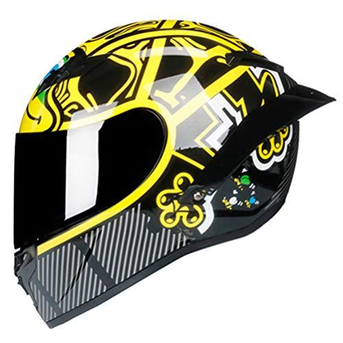Casco de motocicleta de cara completa Cascos de moto Visor de carreras Casco de motocross Casco modular Casco de moto Moto Capacete Moto cara completa