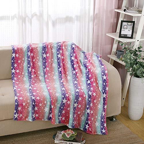 i-baby Kinder Decken Mädchen Fleece Decke Großer Teenager Bettdecke Jugendlich Warme Plüsch Babydecken, Weich Super Gemütlich Kinderbettdecke,127x152cm (Regenbogen)