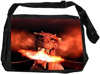 Jacks Outlet JOI-MB-50 TM Messenger Bag, Fire-Breathing Dragon