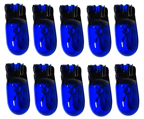 AERZETIX: Lampadine T10 W5W 12V blu per luci pilota plafoniera illuminazione interna (10 pezzi)