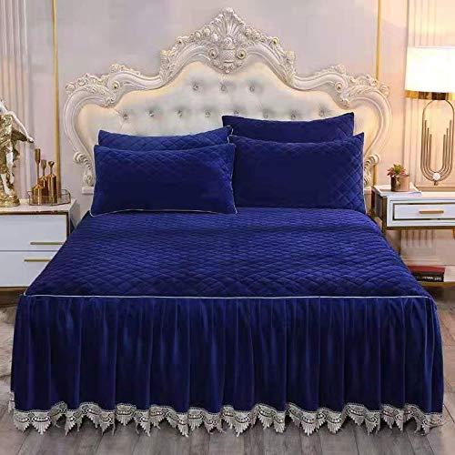 WWQQ Falda De Cama 180x200/150x200 Volantes Cubrecamas Funda De Cama Colcha Dormitorio Sábana Hogar Textil Falda Cubrecama Individual Reina Colcha (Color : F, Size : 180x200cm)