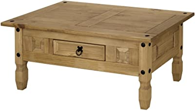 Superb Corona Mexican Pine Coffee Table Rustic Design With Drawer Machost Co Dining Chair Design Ideas Machostcouk