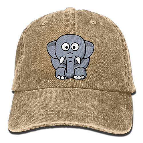 Hoswee Baseballmütze Hüte Kappe Cartoon Elephant Plain Adjustable Cowboy Cap Denim Hat for Women and Men