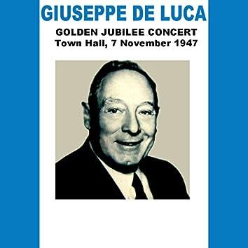 Giuseppe De Luca: Golden Jubilee Concert
