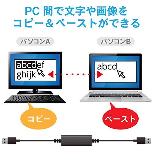 『エレコム データ移行ケーブル [ Windows Mac対応 ] USB2.0 Type-Cアダプタ付属 1.5m ブラック UC-TV5XBK』の6枚目の画像