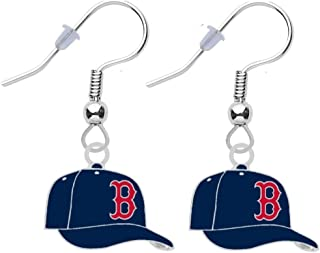Final Touch Gifts Boston Red Sox Cap Earrings Pierced